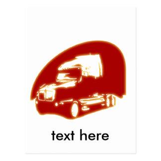 トラック ポストカード