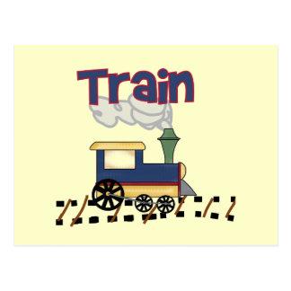 トラックTシャツおよびギフトの列車 ポストカード