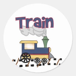 トラックTシャツおよびギフトの列車 ラウンドシール