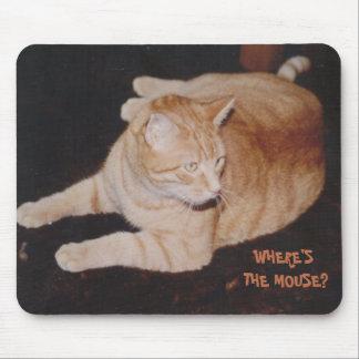 トラネコの待っているマウスのマウスパッド マウスパッド