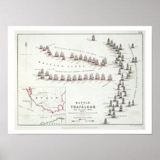 トラファルガー海戦、1805年10月21日のBr ポスター
