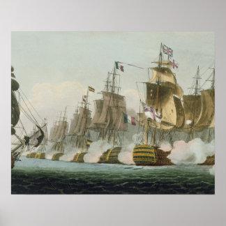トラファルガー海戦、1805年10月21日のengrav ポスター