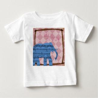 トランクの乳児及び幼児象のワイシャツの運 ベビーTシャツ
