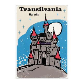 トランシルバニアの城のヴィンテージ旅行ポスター アクリルウォールアート
