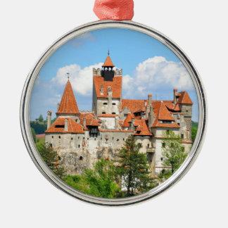 トランシルバニア、ルーマニアのドラキュラの城 メタルオーナメント