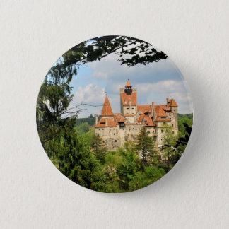 トランシルバニア、ルーマニアのドラキュラの城 缶バッジ