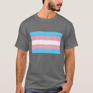 トランス・ジェンダーの旗の性転換のプライドLGBT Tシャツ