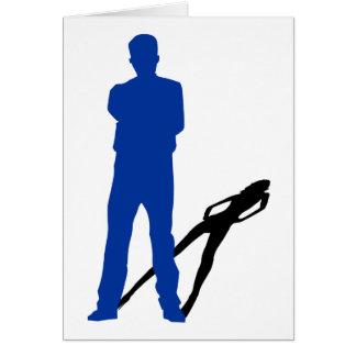 トランス・ジェンダーの発表: 影のシルエット グリーティングカード