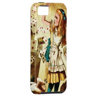 トランプが付いている不思議の国のアリス iPhone SE/5/5s ケース