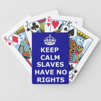 トランプに権利があるために穏やかな奴隷を飼いません バイスクルトランプ