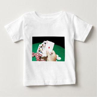 トランプのポーカーのよい手 ベビーTシャツ