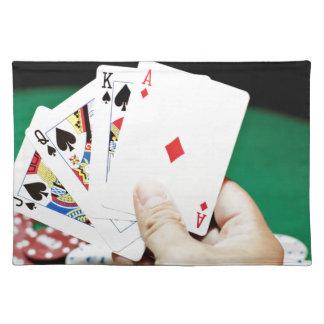 トランプのポーカーのよい手 ランチョンマット