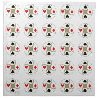 トランプのポーカーのスーツはナプキンを印刷しました ナプキンクロス