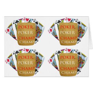 トランプのポーカーのチャンピオン: ART101はパターンをタイルを張りました カード