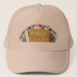トランプのポーカーのチャンピオン- Art101 キャップ