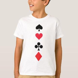 トランプのポーカーのトランプゲーム Tシャツ