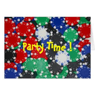 トランプのポーカーのパーティーの招待 カード