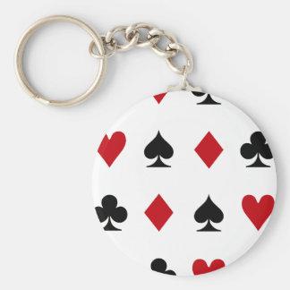 トランプのポーカーの常習者 キーホルダー