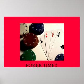 トランプのポーカーの時間!! ポスター