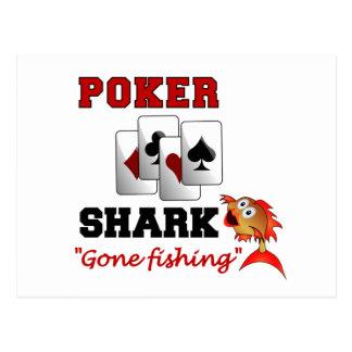 トランプのポーカーの鮫の郵便はがき ポストカード