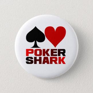 トランプのポーカーの鮫ボタン 缶バッジ