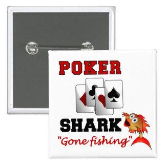 トランプのポーカーの鮫ボタン 5.1CM 正方形バッジ