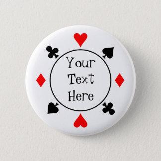 トランプのポーカーはボタンを播きます 5.7CM 丸型バッジ