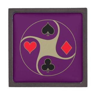 トランプのポーカーは中型の宝石箱に適します ギフトボックス