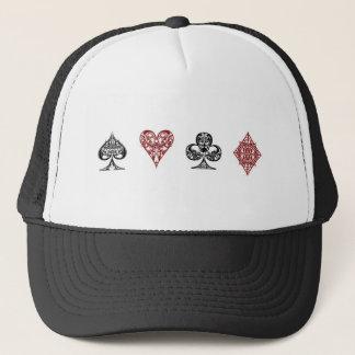 トランプのポーカーカードは帽子に適します キャップ