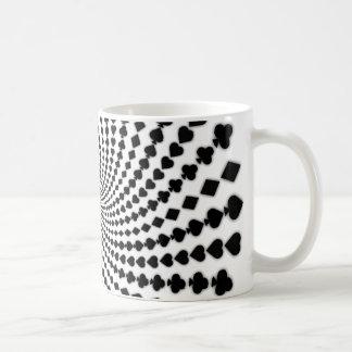 トランプのポーカーカードは螺線形に適します: コーヒー・マグ: ブラックジャック コーヒーマグカップ