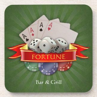 トランプのポーカーマニア-カードは、さいの目に切りましたり、欠けます コースター