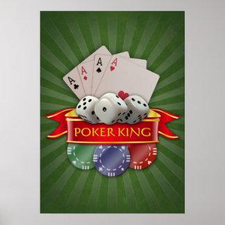 トランプのポーカーマニア-カードは、さいの目に切りましたり、欠けます ポスター