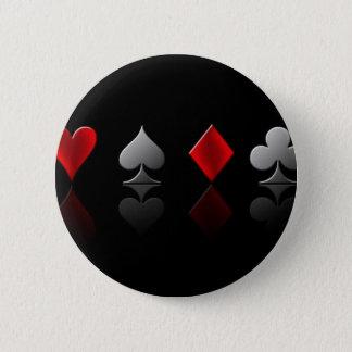 トランプのポーカー壁紙6 5.7CM 丸型バッジ