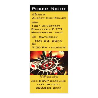 トランプのポーカー夜カジノのテーマの招待 カード