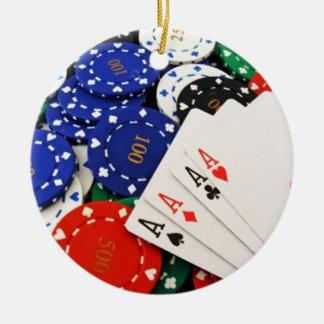 トランプのポーカー セラミックオーナメント