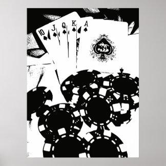 トランプのポーカー ポスター