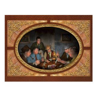 トランプのポーカー-ポーカーフェース1939年 ポストカード