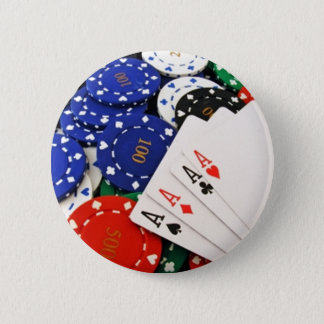 トランプのポーカー 5.7CM 丸型バッジ
