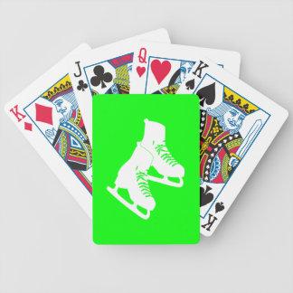トランプの緑はアイススケートします バイスクルトランプ