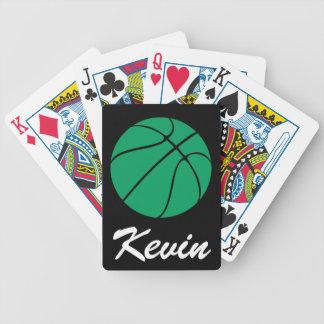 トランプを遊ぶ緑のバスケットボール バイスクルトランプ