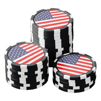 トランプゲームのための愛国心が強い米国旗のポーカー用のチップ ポーカーチップ