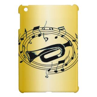 トランペットおよび音符 iPad MINIケース