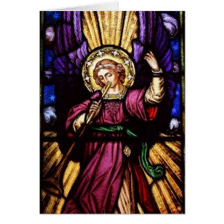 トランペットとのクリスマスの天使 カード