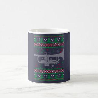 トランペットのクリスマス コーヒーマグカップ