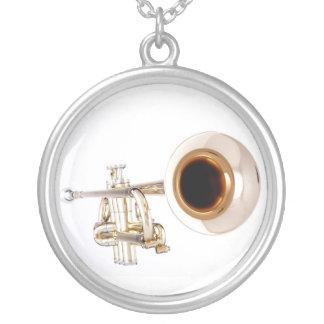 トランペットのネックレス シルバープレートネックレス