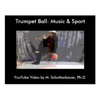トランペットの球: 音楽及びスポーツの郵便はがき20 ポストカード