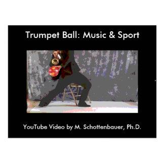 トランペットの球: 音楽及びスポーツの郵便はがき4 ポストカード