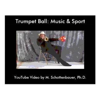 トランペットの球: 音楽及びスポーツの郵便はがき7 ポストカード