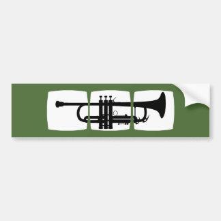 トランペット奏者のためのトランペットのミュージシャンのTシャツ バンパーステッカー