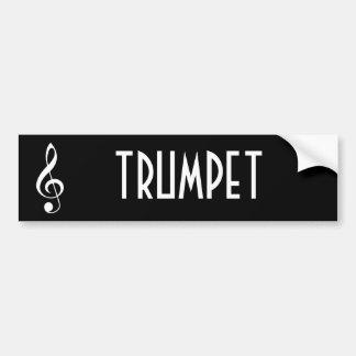 トランペット音楽バンパーステッカーのギフト バンパーステッカー
